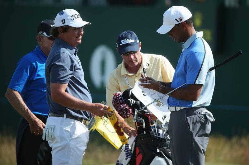 Jason Dufner and Tiger Woods