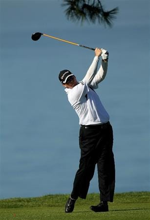 LA JOLLA, CA - JANUARY 28:  D.A. Points hits his tee shot on the second hole at the North Course at Torrey Pines Golf Course during the first round of the Farmers Insurance Open on January 28, 2010 in La Jolla, California.  (Photo by Stephen Dunn/Getty Images)