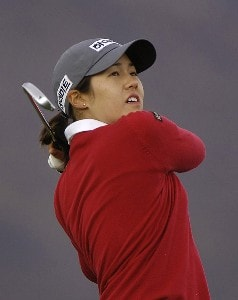 Aree Song tees off the 8th hole during Sunday's final round of the 2006 Safeway International at Superstition Mountain Golf and Country Club in Phoenix, Arizona on March 19, 2006.Photo by Marc Feldman/WireImage.com