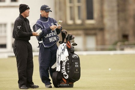 Rich Beem in action during the second round of the 2005 Dunhill Links Championship at St. Andrew Old Course on September 30, 2005.Photo by Pete Fontaine/WireImage.com