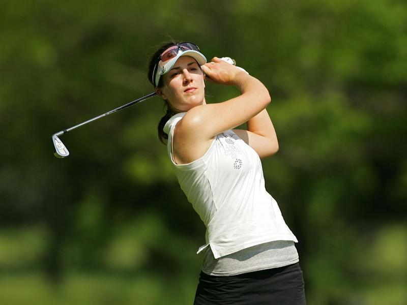 CORNING, NY - MAY 23:  Sandra Gal of Germany watches her drive on the 16th hole during the third round of the LPGA Corning Classic at the Corning Country Club held on May 23, 2009 in Corning, New York.  (Photo by Michael Cohen/Getty Images)