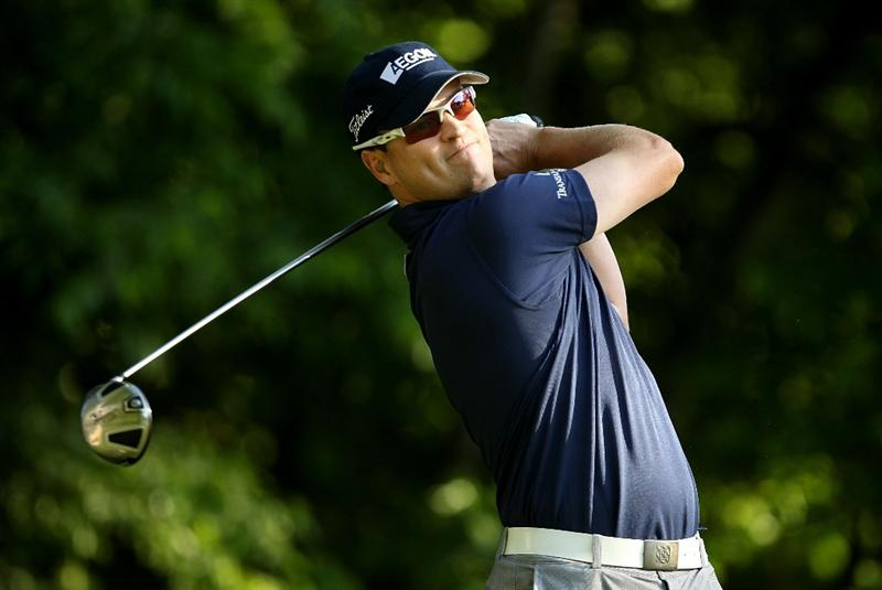 CHARLOTTE, NC - APRIL 30:  Zach Johnson watches his tee shot on the 5th hole during the second round of the Quail Hollow Championship at Quail Hollow Country Club on April 30, 2010 in Charlotte, North Carolina.  (Photo by Streeter Lecka/Getty Images)