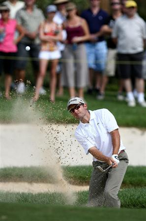 PERTH, AUSTRALIA - FEBRUARY 21:  Ignacio Garrido of Spain plays out of the bunker on the 4th hole during round three of the 2009 Johnnie Walker Classic at The Vines Resort and Country Club on February 21, 2009 in Perth, Australia.  (Photo by Paul Kane/Getty Images)