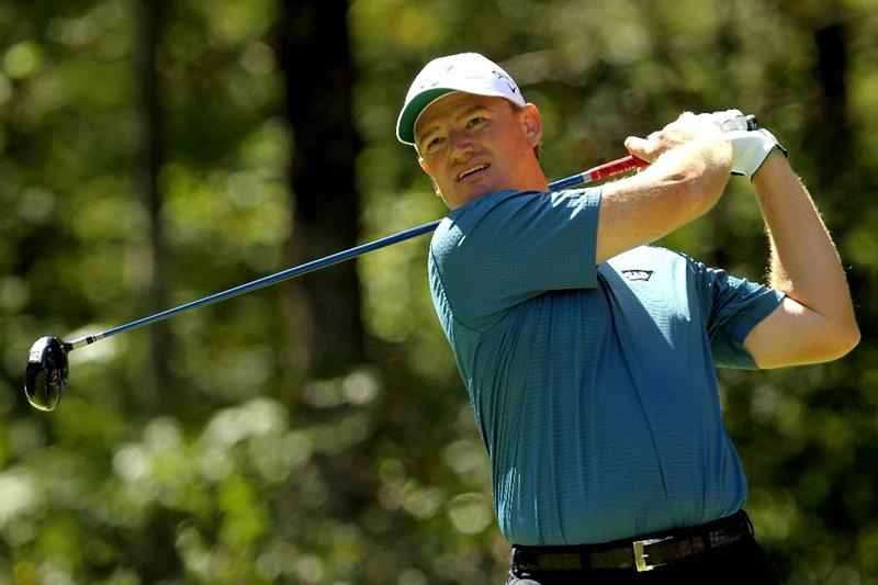 NORTON, MA - SEPTEMBER 05:  Ernie Els of South Africa hits a shot off the second tee during the third round of the Deutsche Bank Championship at TPC Boston on September 5, 2010 in Norton, Massachusetts.  (Photo by Mike Ehrmann/Getty Images)