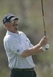 Gary McCord during the first round of the ACE Group Classic held at the TwinEagles GC in Naples, Florida on February 17, 2006.Photo by Sam Greenwood/WireImage.com
