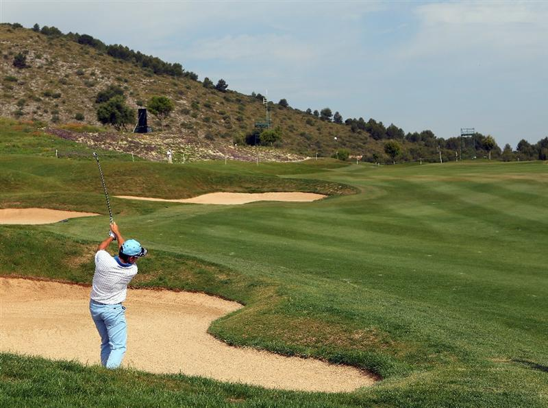 MALLORCA, SPAIN - MAY 13:  Ignacio Garrido of Spain plays out of a bunker during day two of the Iberdrola Open at Pula Golf Club on May 13, 2011 in Mallorca, Spain.  (Photo by Julian Finney/Getty Images)