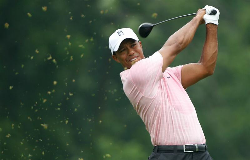 DUBLIN, OH - JUNE 05:  Tiger Woods watches his tee shot on the third hole during the third round of the Memorial Tournament presented by Morgan Stanley at Muirfield Village Golf Club on June 5, 2010 in Dublin, Ohio.  (Photo by Scott Halleran/Getty Images)