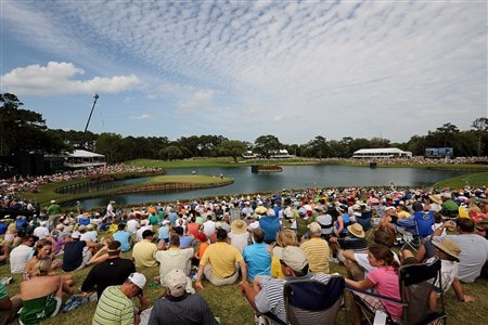 PONTE VEDRA BEACH, FL - MAY 10:  A general view of the 16th and 17th holes during the third round of THE PLAYERS Championship on THE PLAYERS Stadium Course at TPC Sawgrass on May 10, 2008 in Ponte Vedra Beach, Florida.  (Photo by Sam Greenwood/Getty Images)
