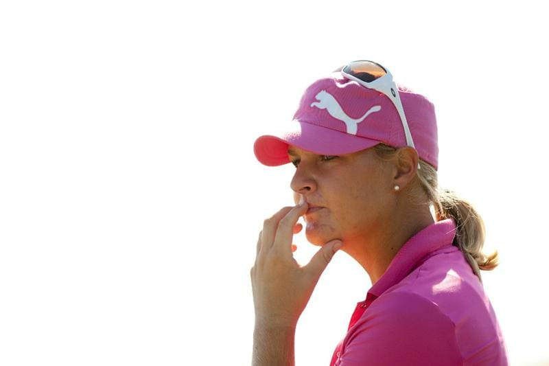PRATTVILLE, AL - OCTOBER 8: Anna Nordqvist of Sweden watches play during the second round of the Navistar LPGA Classic at the Senator Course at the Robert Trent Jones Golf Trail  on October 8, 2010 in Prattville, Alabama. (Photo by Darren Carroll/Getty Images)