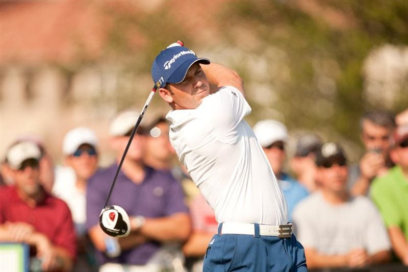 IRVING, TX - MAY 27: Sergio Garcia of Spain follows through on a tee shot during the second round of the HP Byron Nelson Championship at TPC Four Seasons at Las Colinas on May 27, 2011 in Irving, Texas. (Photo by Darren Carroll/Getty Images)