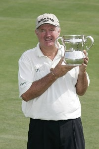 Allen Doyle poses with the trophy after winning the 2006 U.S. Senior Open Championship at the Prairie Dunes Country Club in Hutchinson, Kansas on July 9, 2006.Photo by G. Newman Lowrance/WireImage.com