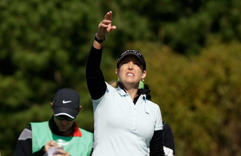 INCHEON, SOUTH KOREA - OCTOBER 29:  Cristie Kerr of United States on the third hole during the 2010 LPGA Hana Bank Championship at Sky 72 golf club on October 29, 2010 in Incheon, South Korea.  (Photo by Chung Sung-Jun/Getty Images)