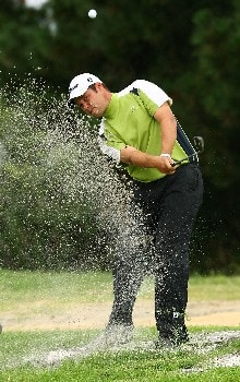 SYDNEY, AUSTRALIA - FEBRUARY 05: Chris Downes chips onto the 15th hole during the British Open qualifying held at the Lakes golf course on February 5, 2008 in Sydney, Australia.  (Photo by Mark Nolan/Getty Images)