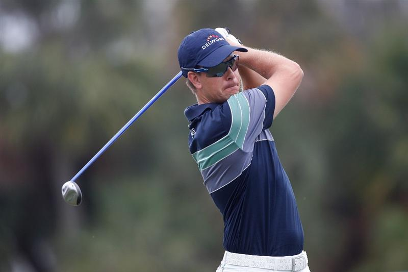 DORAL, FL - MARCH 12:  Henrik Stenson of Sweden plays a shot on the 14th hole during round two of the 2010 WGC-CA Championship at the TPC Blue Monster at Doral on March 12, 2010 in Doral, Florida.  (Photo by Scott Halleran/Getty Images)