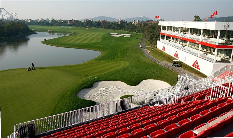 SHANGHAI, CHINA - NOVEMBER 03:  A general-view of the 18th hole during a practice round prior to the start of the WGC-HSBC Champions at Sheshan International Golf Club on November 3, 2009 in Shanghai, China.  (Photo by Scott Halleran/Getty Images)