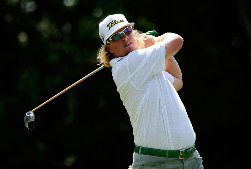 PONTE VEDRA BEACH, FL - MAY 08:  Charley Hoffman hits his tee shot on the seventh hole during the third round of THE PLAYERS Championship held at THE PLAYERS Stadium course at TPC Sawgrass on May 8, 2010 in Ponte Vedra Beach, Florida.  (Photo by Sam Greenwood/Getty Images)