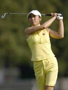 Candie Kung during the second round of the Jamie Farr Owens Corning Classic at Highland Meadows Golf Club in Sylvania, Ohio, on July 14, 2006.Photo by Steve Levin/WireImage.com