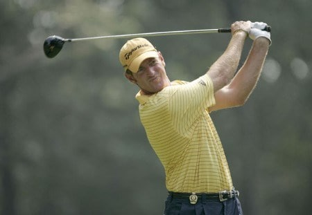 Greg Owen during the third round of the 2005 PGA Championship at Baltusrol Golf Club in Springfield, New Jersey on August 13, 2005.Photo by Christopher Condon/WireImage.com