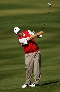 PEBBLE BEACH, CA - FEBRUARY 10:  Dudley Hart hits his second shot on the second hole during the final round of the AT&T Pebble Beach National Pro-Am on Pebble Beach Golf Links on February 10, 2008 at Pebble Beach  in Pebble Beach. California.  (Photo by Stephen Dunn/Getty Images)
