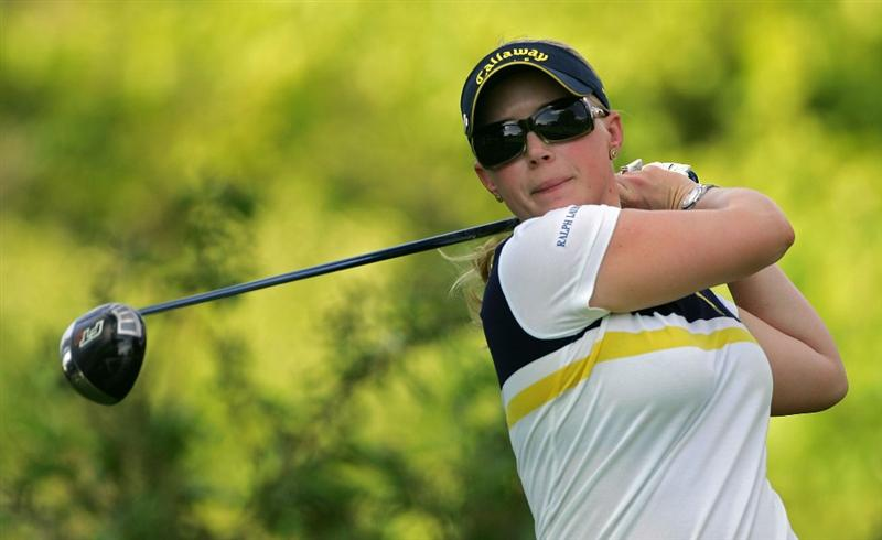 PITTSFORD, NY - JUNE 26: Morgan Pressel of the USA during the second round of the Wegmans LPGA at Locust Hill Country Club held on June 26, 2009 in Pittsford, NY. (Photo by Michael Cohen/Getty Images)