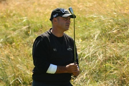 SOUTHPORT, UNITED KINGDOM - JULY 19:  Rocco Mediate of USA plays from the rough on the 1st during the third round of the 137th Open Championship on July 19, 2008 at Royal Birkdale Golf Club, Southport, England.  (Photo by Richard Heathcote/Getty Images)