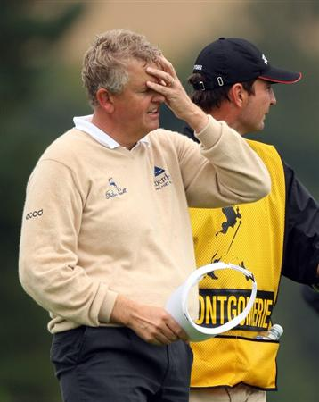 PERTH, UNITED KINGDOM - AUGUST 31: Colin Montgomerie of Scotland after the final round of The Johnnie Walker Championship at Gleneagles on August 31, 2008 at the Gleneagles Hotel and Resort in Perthshire, Scotland.  (Photo by Ross Kinnaird/Getty Images)