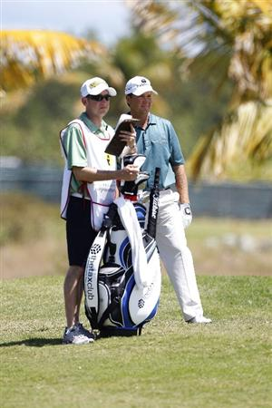 RIO GRANDE, PR - MARCH 13: Hunter Haas stands by his golf bag on the second hole during the final round of the Puerto Rico Open presented by seepuertorico.com at Trump International Golf Club on March 13, 2011 in Rio Grande, Puerto Rico.  (Photo by Michael Cohen/Getty Images)