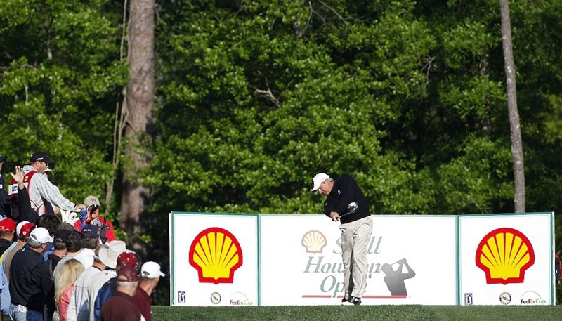 HUMBLE, TX - MARCH 31: Fred Couples hits his drive on the 15th hole during the first round of the Shell Houston Open at Redstone Golf Club on March 31, 2011 in Humble, Texas.  (Photo by Michael Cohen/Getty Images)