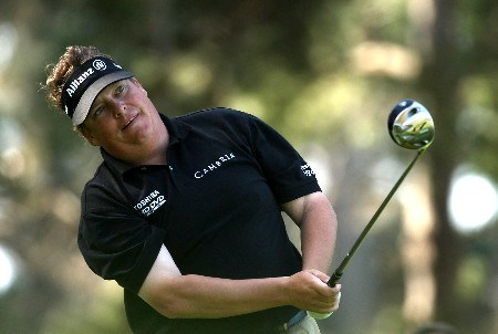 PEBBLE BEACH, CA - FEBRUARY 9:  Tim Herron hits his tee shot on the seventh hole during the third round of the AT&T Pebble Beach National Pro-Am on February 9, 2008 at Spyglass Hill Golf Course in Pebble Beach. California.  (Photo by Stephen Dunn/Getty Images)