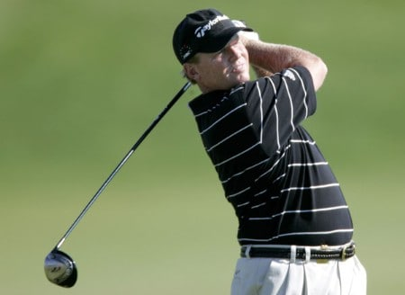 Lonnie Nielsen in action during the second round of the 2005 3M Championship at the TPC of the Twin Cities in Blaine, Minnesota on August 6, 2005.Photo by Gregory Shamus/WireImage.com