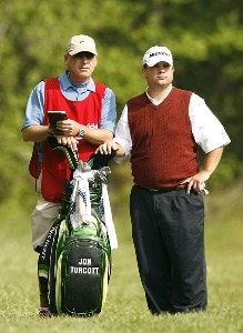 Jon Turcott waits to play his second shot on the ninth hole during the second round of the 2007 Athens Regional Foundation Classic Friday, April 20, 2007, at the Jennings Mill Country Club in Bogart, Georgia. Nationwide Tour - 2007 Athens Regional Foundation Classic - Second RoundPhoto by Kevin C.  Cox/WireImage.com