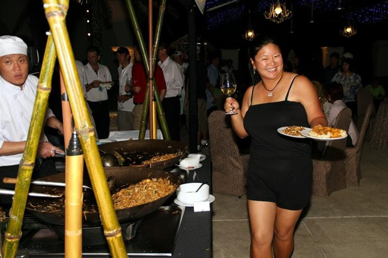 KUALA LUMPUR, MALAYSIA - OCTOBER 20: Christina Kim of the United States poses during the Sime Darby LPGA Welcome Party on October 20, 2010 at the KLGCC Golf Course in Kuala Lumpur, Malaysia.  (Photo by Stanley Chou/Getty Images)