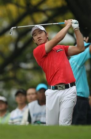 SINGAPORE - NOVEMBER 13:  Kang Kyung-nam of Korea in action during the Final Round of the Barclays Singapore Open at Sentosa Golf Club on November 14, 2010 in Singapore, Singapore.  (Photo by Ian Walton/Getty Images)
