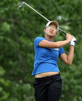 EDINA, MN - JUNE 28: Ji Young Oh of South Korea tees off at the 4th hole during the third round of the 2008 U.S. Women's Open Championship held at Interlachen Country Club on June 28, 2008 in Edina, Minnesota.  (Photo by David Cannon/Getty Images)
