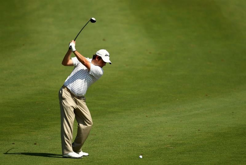 PONTE VEDRA BEACH, FL - MAY 08:  Tim Clark of South Africa plays his second shot on the 16th hole during the third round of THE PLAYERS Championship held at THE PLAYERS Stadium course at TPC Sawgrass on May 8, 2010 in Ponte Vedra Beach, Florida.  (Photo by Richard Heathcote/Getty Images)