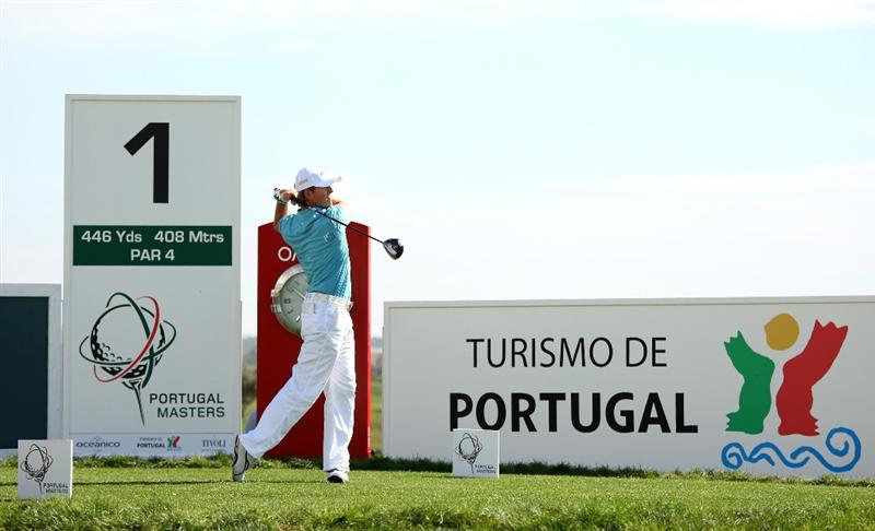 VILAMOURA, PORTUGAL - OCTOBER 18:  Stuart Manley of Wales tee's off at the 1st during the third round of the Portugal Masters at the Oceanico Victoria Golf Course on October 18, 2008 in Vilamoura, Portugal.  (Photo by Richard Heathcote/Getty Images)