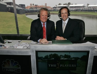 Johnny Miller and Dan Hicks during the third round of THE PLAYERS Championship held on THE PLAYERS Stadium Course at TPC Sawgrass in Ponte Vedra Beach, Florida, on May 12, 2007. Photo by: c Caryn Levy/PGA TOURPhoto by: c Caryn Levy/PGA TOUR