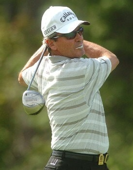 Mark McNulty in action during the first round of the 2005 Boeing Greater Seattle Classic at TPC Snoqualmie in Snoqualmie, Washington August 19, 2005.Photo by Steve Grayson/WireImage.com