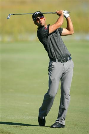 SEA ISLAND, GA - OCTOBER 8: James Nitties of Australia hits his second shot on the eighth hole during the second round of the McGladrey Classic at Sea Island Resort's Seaside Course on October 8, 2010 in Sea Island, Georgia. (Photo by Hunter Martin/Getty Images)