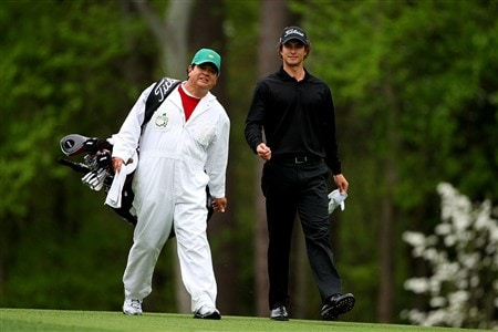 AUGUSTA, GA - APRIL 08:  Adam Scott of Australia walks along a fairway during the second day of practice prior to the start of the 2008 Masters Tournament at Augusta National Golf Club on April 8, 2008 in Augusta, Georgia.  (Photo by Andrew Redington/Getty Images)