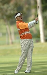 Shigeki Maruyama in action during the first round of the 2006 Nissan Open, Presented by Countrywide at Riviera Country Club in Pacific Palisades, California February 16, 2006.Photo by Steve Grayson/WireImage.com
