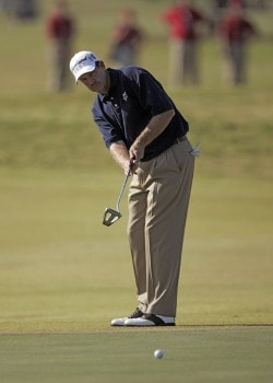 Bart Bryant putting during the second round of THE TOUR Championship at East Lake Golf Club in Atlanta, Georgia on November 4, 2005.Photo by Hunter Martin/WireImage.com