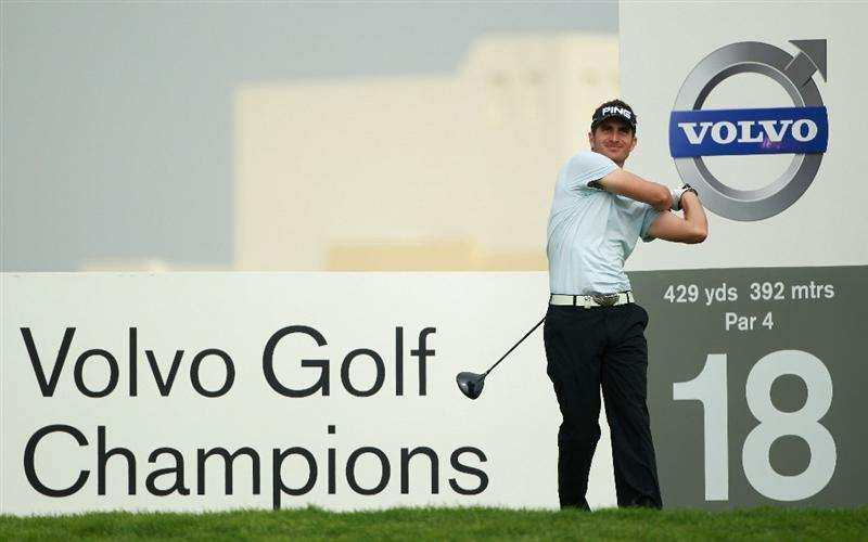 BAHRAIN, BAHRAIN - JANUARY 27:  Alejandro Canizares of Spain in action during the first round of the Volvo Golf Champions at The Royal Golf Club on January 27, 2011 in Bahrain, Bahrain.  (Photo by Andrew Redington/Getty Images)