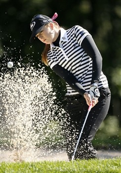 ROCHESTER, NY - JUNE 19: Paula Creamer hits her fourth shot on the 4th hole during the first round of the Wegmans LPGA at Locust Hill Country Club on June 19, 2008 in Rochester, New York. (Photo by Hunter Martin/Getty Images)