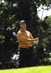 SILVIS, IL - JULY 12:  Peter Lonard during the first round of The John Deere Classic at the TPC Deere Run on July 12, 2007 in Silvis, Illinois.  (Photo by Marc Feldman/WireImage) *** Local Caption *** Steve Flesch PGA - John Deere Classic - First RoundPhoto by Marc Feldman/WireImage) *** Local Caption *** Steve Flesch