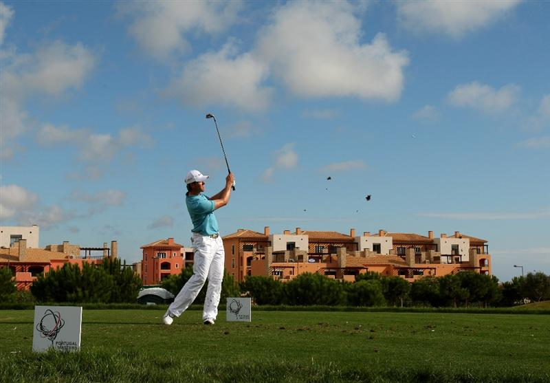 VILAMOURA, PORTUGAL - OCTOBER 18:  Stuart Manley of Wales tee's off at the 8th during the third round of the Portugal Masters at the Oceanico Victoria Golf Course on October 18, 2008 in Vilamoura, Portugal.  (Photo by Richard Heathcote/Getty Images)
