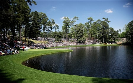AUGUSTA, GA - APRIL 09:  A general view of the play during the Par 3 Contest prior to the start of the 2008 Masters Tournament at Augusta National Golf Club on April 9, 2008 in Augusta, Georgia.  (Photo by David Cannon/Getty Images)
