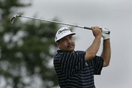 Brad Bryant in action during the third round of the Greater Hickory Classic at Rock Barn on the Jones Course  in Conover, North Carolina on October 9, 2005.Photo by Michael Cohen/WireImage.com