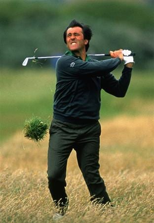 ROYAL BIRKDALE - JULY 18:  Seve Ballesteros of Spain in action on the 15th during the first day of the British Open Championships held at Royal Birkdale, in Southport, England on July 18, 1991. (Photo by David Cannon/Getty Images)