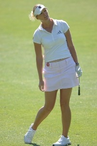 Catherine Cartwright in action during the second round of the LPGA's 2006 Michelob ULTRA Open at Kingsmill, at the Kingsmill Resort and Spa River Course in Williamsburg, Virginia on May 12, 2006.Photo by Steve Grayson/WireImage.com